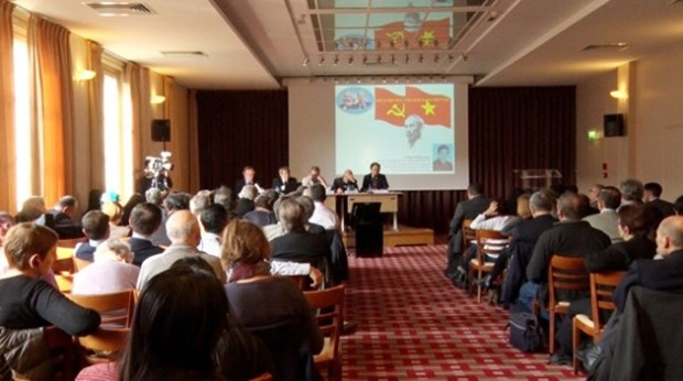 Conference on Vietnam's 12th Party Congress held in France hinh anh 1