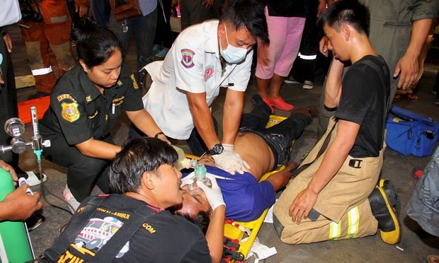 Fire extinguisher chemicals kill ten in Thai bank hinh anh 1