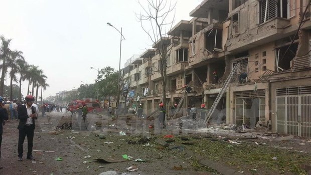 Bomb materials found at site of Hanoi blast hinh anh 1