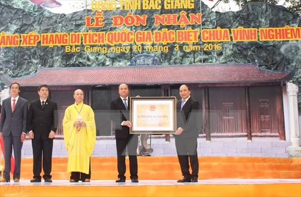 Vinh Nghiem Pagoda receives Special National Relic title hinh anh 2