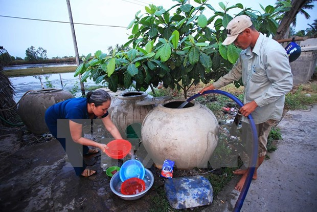 Mekong Delta localities supported in searching fresh water hinh anh 1