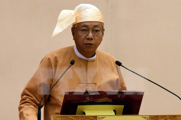 New President of Myanmar sworn in hinh anh 1