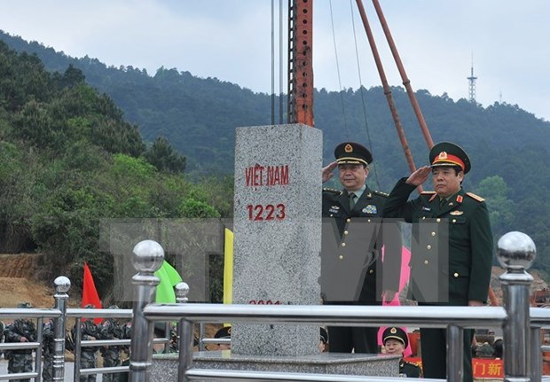 Ministers hail outcomes of Vietnam-China border defence exchange hinh anh 1