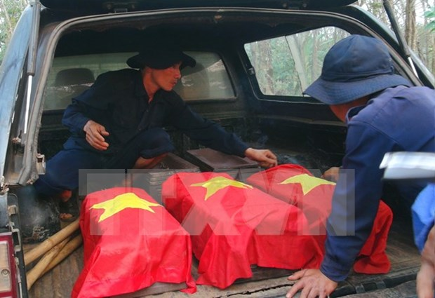 Fallen soldiers laid to rest in An Giang hinh anh 1