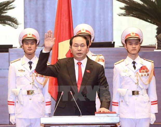 Foreign leaders congratulate newly-elected President hinh anh 1