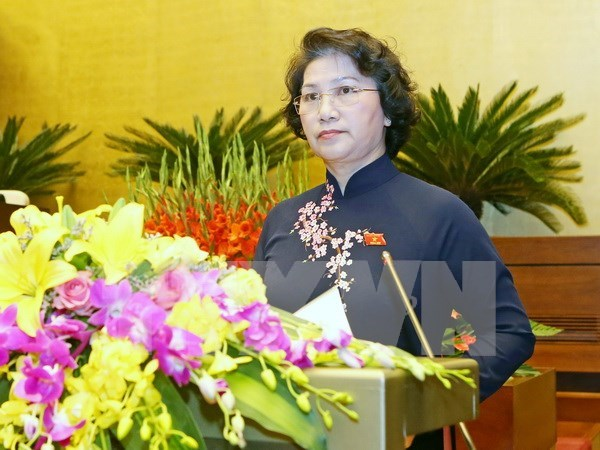 More congratulations to newly-elected NA Chairwoman hinh anh 1