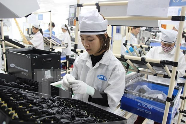 Vietnam posts 1.36 billion USD trade surplus in Q1 hinh anh 1
