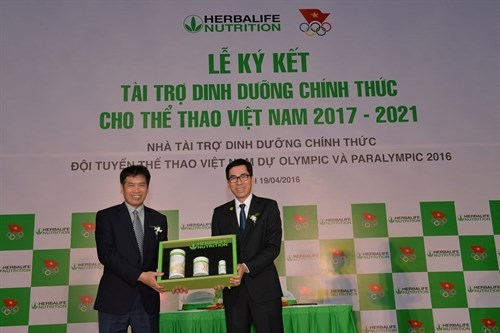Herbalife to provide nutrition support to Vietnamese athletes hinh anh 1