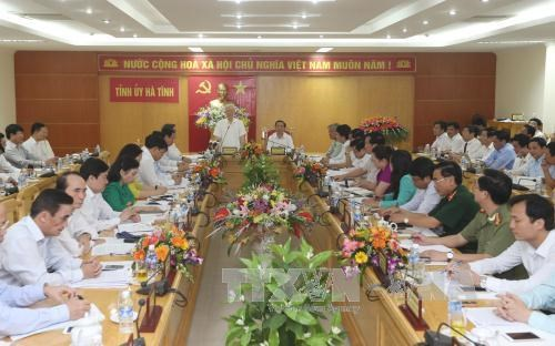 Party chief pays working visit to Ha Tinh province hinh anh 1