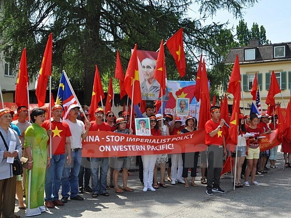 Vietnamese in Germany object to China's acts in East Sea hinh anh 1