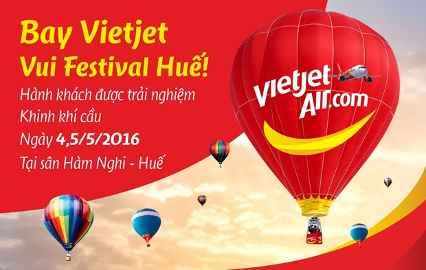 Vietjet offers passengers hot-air balloon service in Hue hinh anh 1