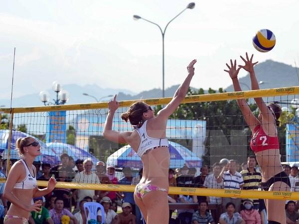 Asian women's beach volleyball tournament kicks off in Ha Long hinh anh 1
