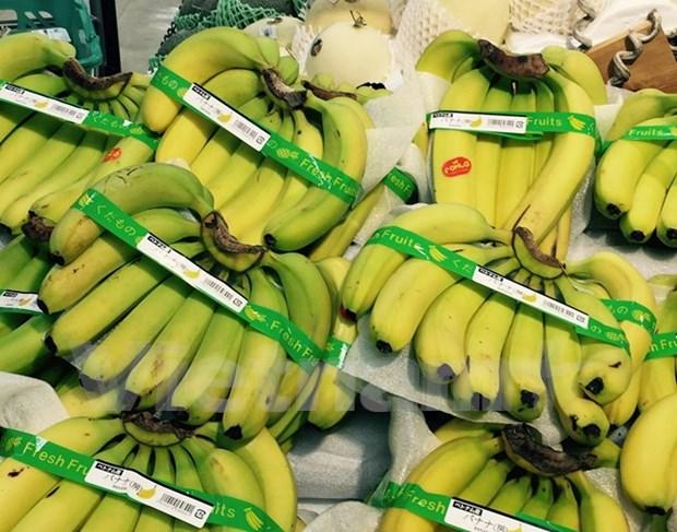 Vietnamese bananas on Japan's supermarket shelves hinh anh 1