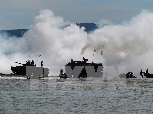 ADMM-Plus military drill undergoing in Brunei hinh anh 1
