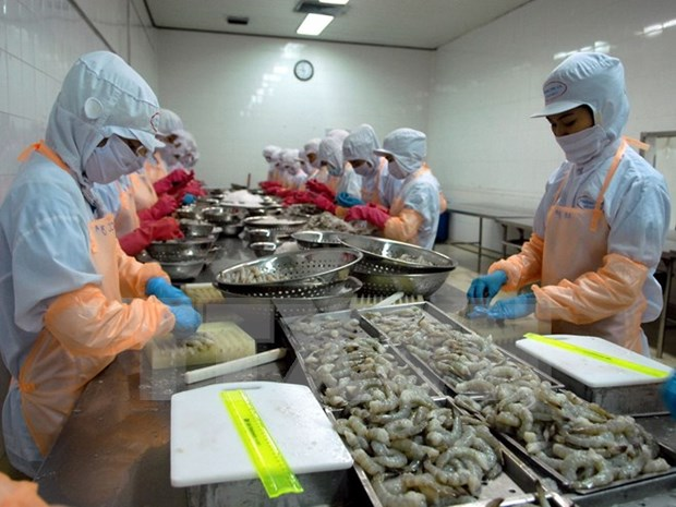 Ca Mau: Aquatic export records promising start in 2016 hinh anh 1