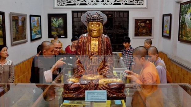 Buddhist art exhibitions open in HCM City hinh anh 1