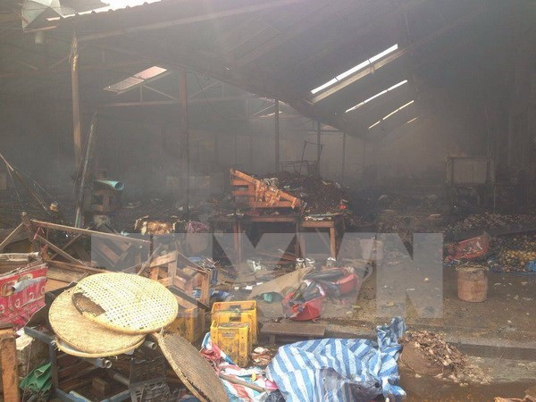 Vietnam's market fire in Laos costs estimated 8 mln USD in damage hinh anh 1