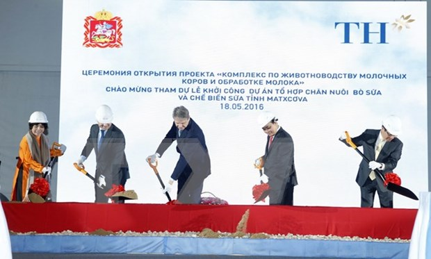 TH True Milk kicks off dairy project in Russia hinh anh 1