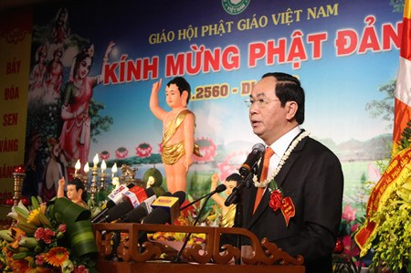 State President attends Buddha birthday celebration hinh anh 1
