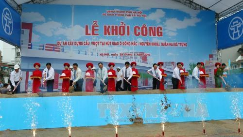 Hanoi builds another inner-city flyover hinh anh 1
