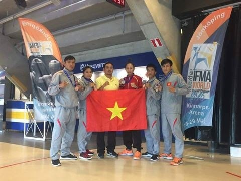 Muaythai fighters win five medals at world championship hinh anh 1