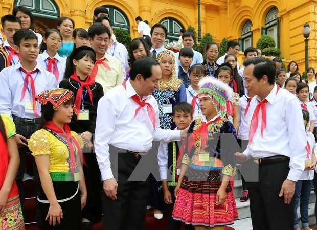 Child care, education, protection – strategic tasks: President hinh anh 1