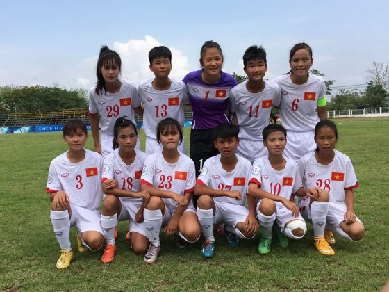 Vietnam's U14 girls ready to defend AFC title hinh anh 1
