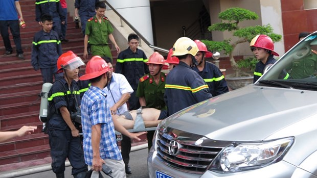 One people dead in fire at Hai Phong TV station hinh anh 1