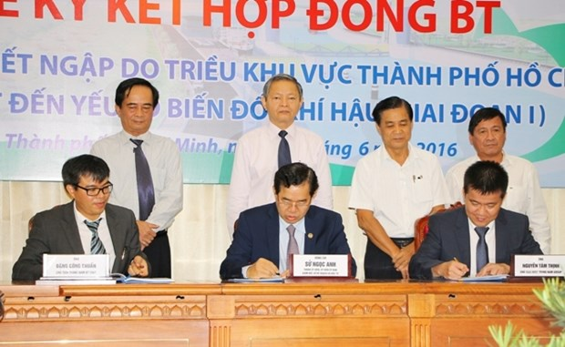 HCM City begins 450 million USD flood prevention project hinh anh 1