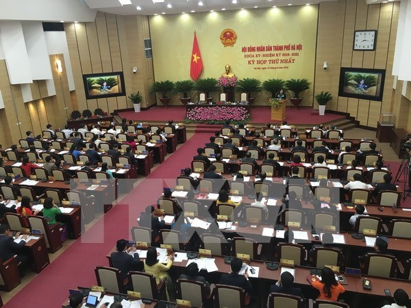 Hanoi: New People's Council opens first session, elects key positions hinh anh 1