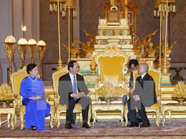 Vietnam, Cambodia agree to push forwards bilateral ties hinh anh 1