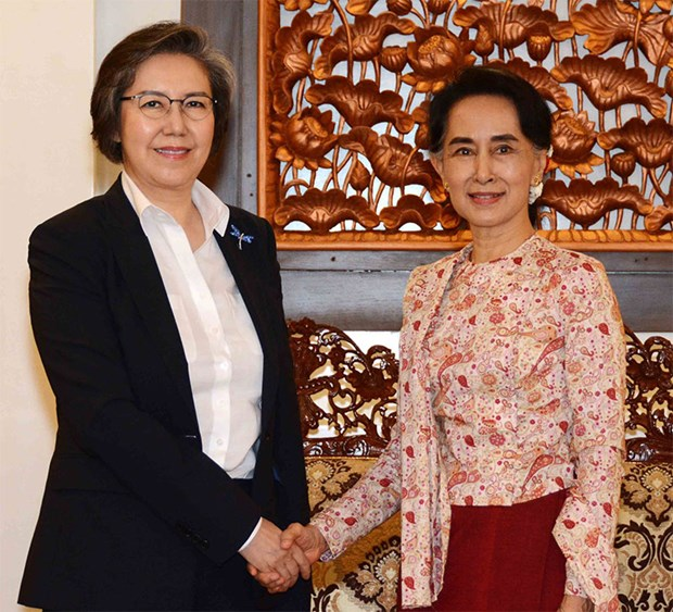 Myanmar Foreign Minister meets UN envoy hinh anh 1
