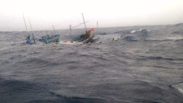 Trade union protests China sinking Vietnamese fishing boat hinh anh 1