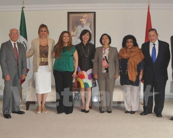 Vietnam ambassador, Mexican officials talk relationship solidification hinh anh 1