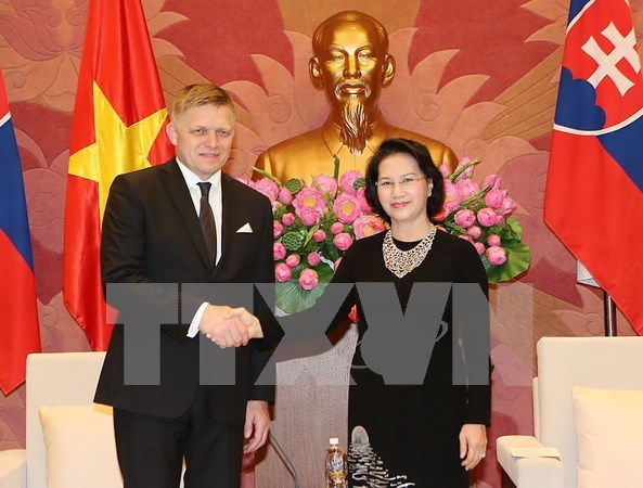 NA Chairwoman welcomes Slovak Prime Minister hinh anh 1