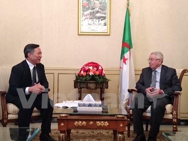 Algeria's senate speaker receives outgoing Vietnamese ambassador hinh anh 1