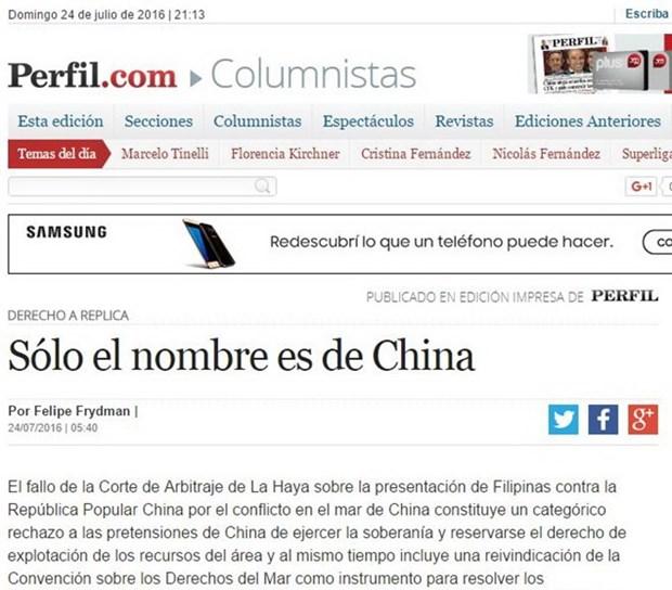 Former Argentine ambassador embraces PCA's ruling hinh anh 1