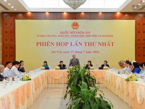 NA committee on culture, education, youngsters convenes first plenary hinh anh 1
