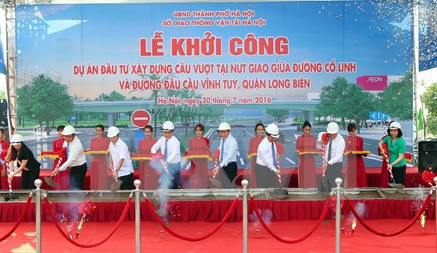 Construction begins on new overpass in Hanoi hinh anh 1