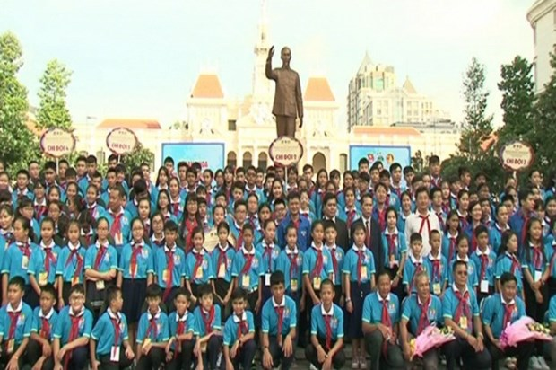 Vietnam, Laos, Cambodia children meet for cultural exchange hinh anh 1