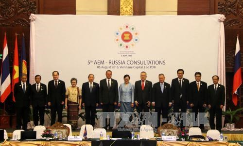 Fifth AEM-Russia Consultation takes place in Vientiane hinh anh 1