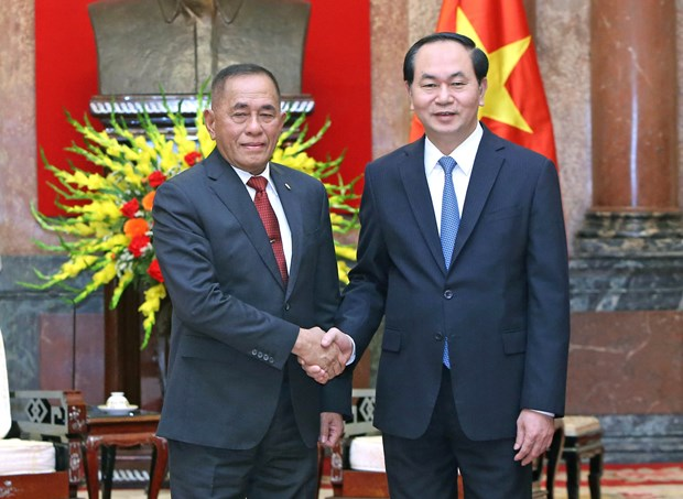 President hails strategic partnership with Indonesia hinh anh 1