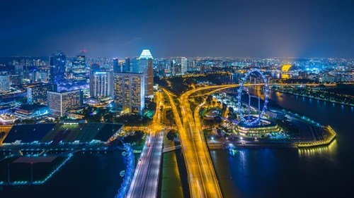 Singapore celebrates 51st founding anniversary hinh anh 1