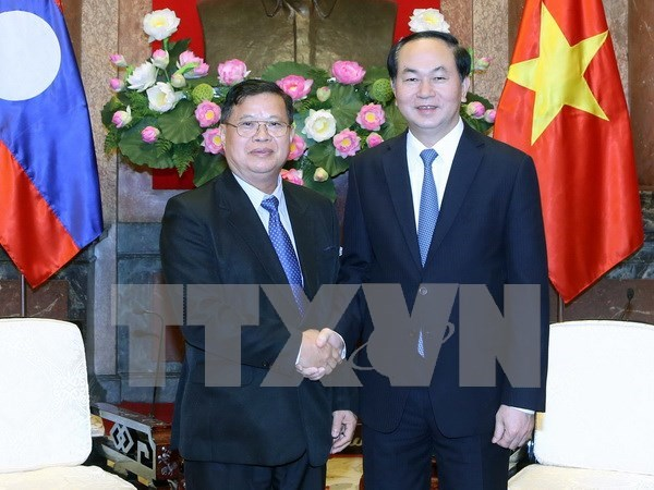 Vietnam gives top priority to relationship with Laos: President hinh anh 1