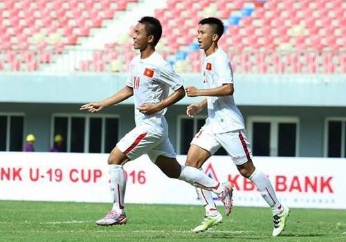 Vietnam tie Myanmar 1-1 in U-19 friendly hinh anh 1