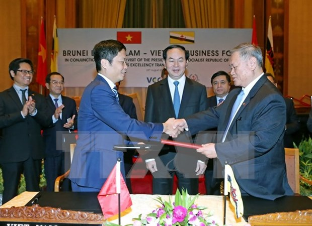 President encourages Brunei firms to invest in Vietnam hinh anh 1