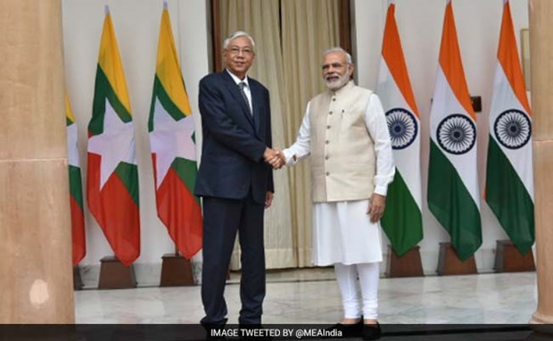 Indian PM appreciates relations with Myanmar hinh anh 1