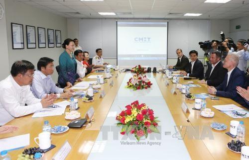 NA Chairwoman visits seaports in Ba Ria-Vung Tau hinh anh 1