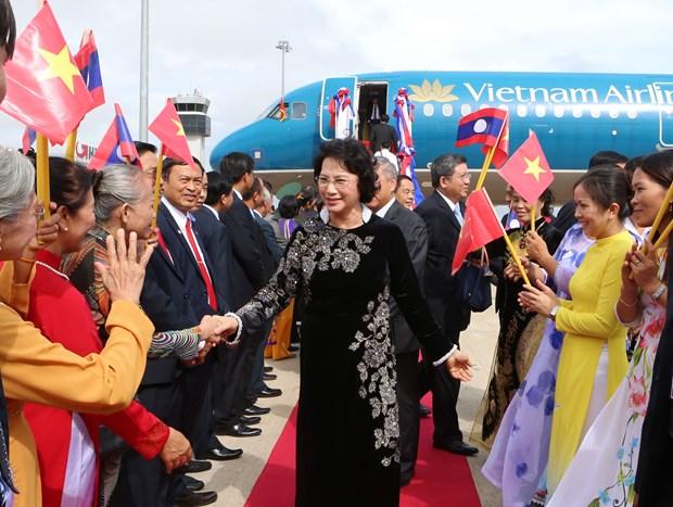 National Assembly leader begins Laos visit hinh anh 1