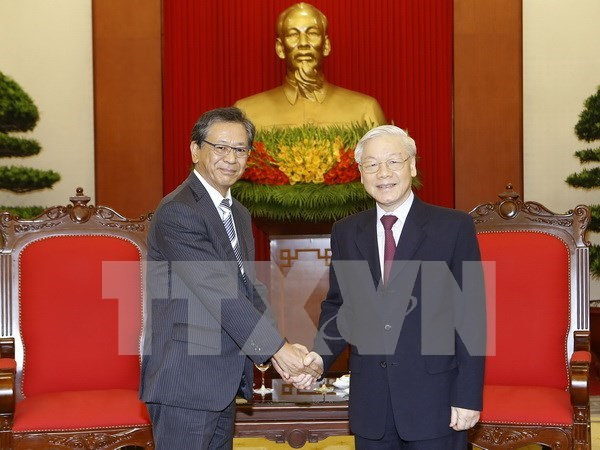 Party leader appreciates outgoing Japanese ambassador's contributions hinh anh 1